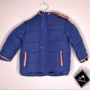 Vertical '9 Puffer Full Zip Hooded Lined Coat